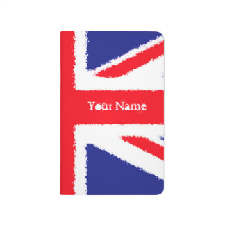 Personalised Rough edge Union Jack Journal