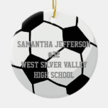 Personalised Round Soccer Ball Sports Ornament