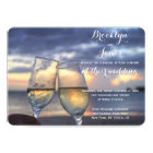 Personalised Round Sunset Beach Wedding Invites