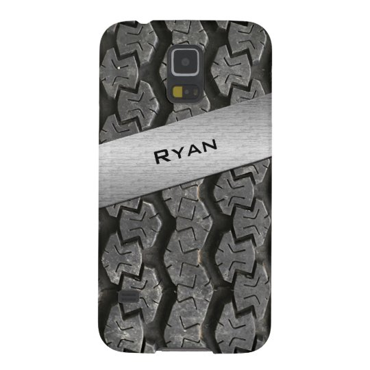 Personalised Rubber Tire Treads Galaxy S5 Case