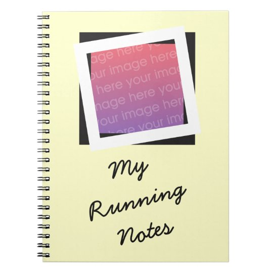 Personalised Running Add Photo and Text Notebook