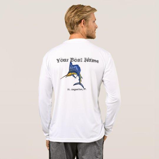 Personalised Sailfish Boat name and port shirt