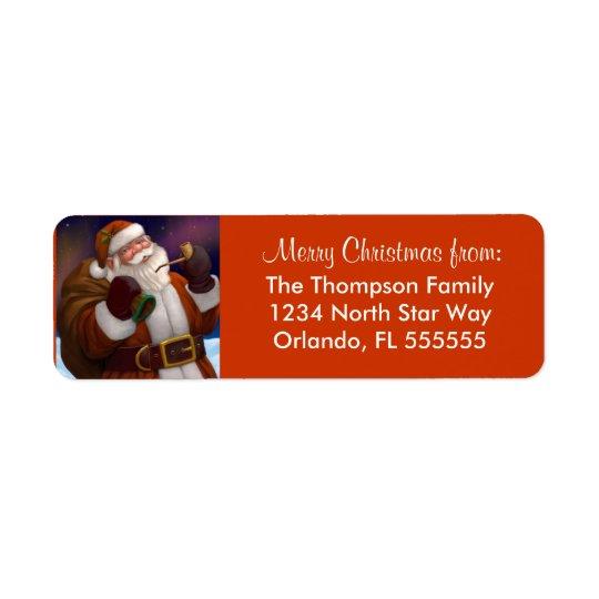 Personalised Santa Christmas Return Address Labels