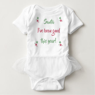 Personalised santa I've been good Baby Bodysuit