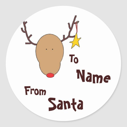 Personalised Santa Sticker