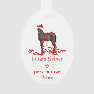 Personalised Santa's Helper Horse Colt Ornament
