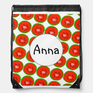 Personalised School Bag Drawstring Backback Bright