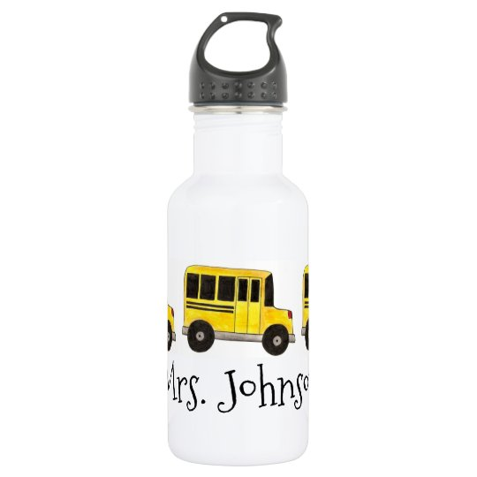 Personalised School Bus Driver Water Bottle