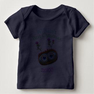 Personalised Scottish Haggis First Christmas! Baby T-Shirt