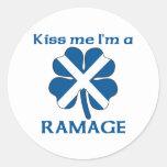 Personalised Scottish Kiss Me I'm Ramage Round Sticker