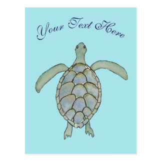 Personalised Sea Turtle Postcard