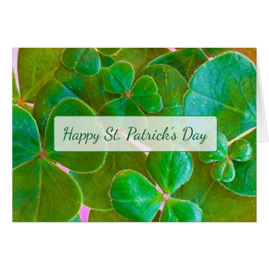 Personalised Shamrock St Patrick's Day Card