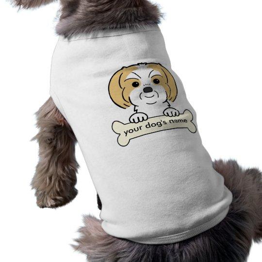 Personalised Shih Tzu Sleeveless Dog Shirt