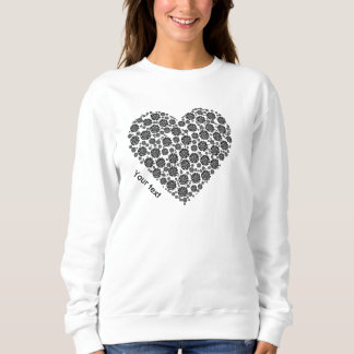 Personalised shirt black and white heart design