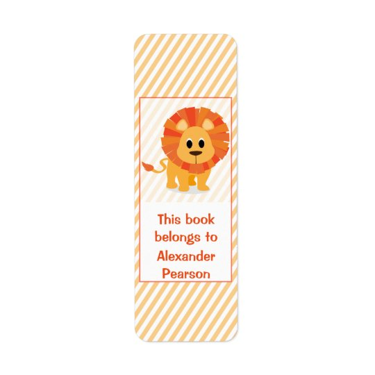 Personalised Silly Lion Bookplate