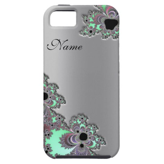 Personalised Silver Metallic Fractal iPhone 5 Case