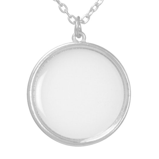 Medium Silver Plated Round Necklace
