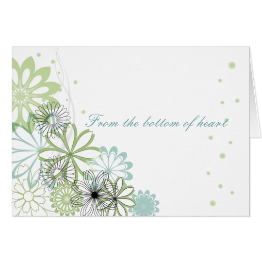 Personalised Simple Flowers Thank You Card