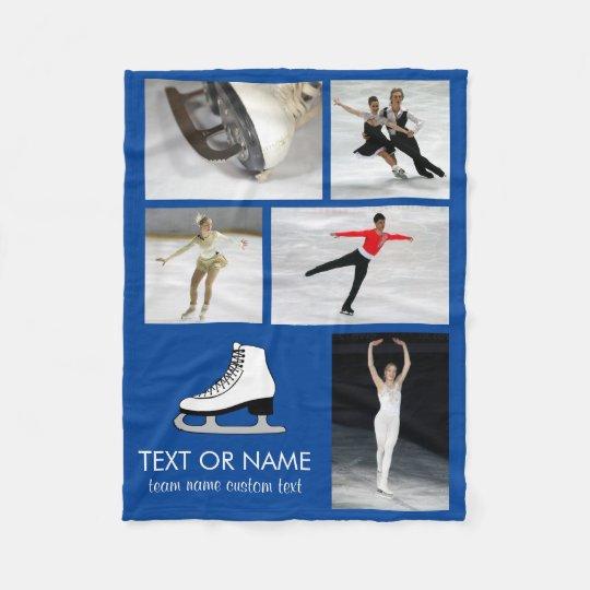 Personalised Skating Photo Collage Skater's Name Fleece