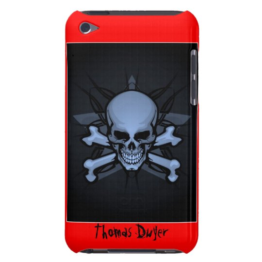 Personalised ! sKuLL cRoSsBoNz IPOD TOUCH 4th gen iPod Touch Cover