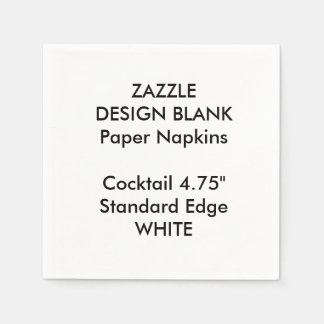 Personalised Small WHITE Cocktail Paper Napkins Disposable Serviette