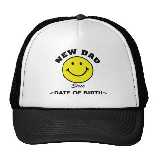 Personalised Smiley Face New Dad Cap