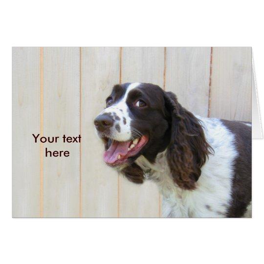 Personalised Smiling English Springer Spaniel Card