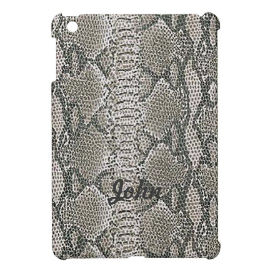 Personalised Snake Skin Print iPad Mini Case