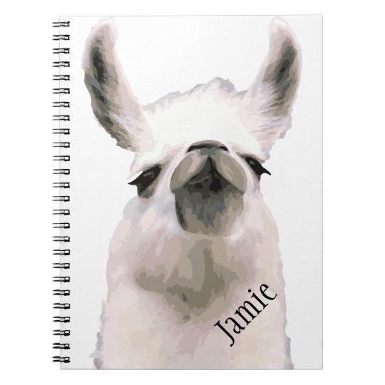 Personalised Snooty Snobby Llama Notebook