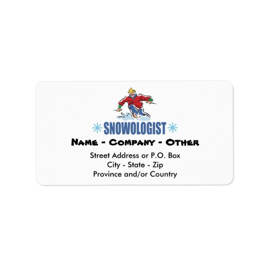 Personalised Snow Skiing Label