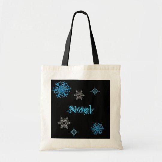 personalised snowflake bag. tote bag