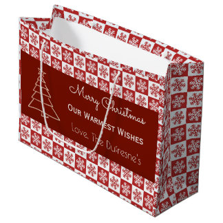 Personalised Snowflake Christmas Gift Bag