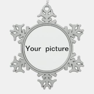 personalised snowflake pendant snowflake pewter christmas ornament