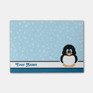 Personalised Snowflake Penguin Post-it® Notes