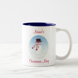 personalised snowman coffee mugs