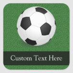Personalised Soccer Ball Square Sticker