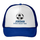 Personalised Soccer Ball with Team Name and Number Cap