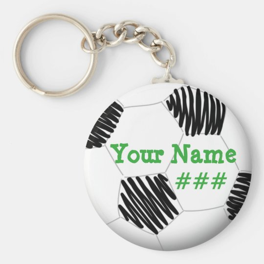 Personalised Soccer Key chain