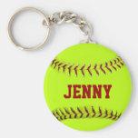 Personalised Softball Keychain