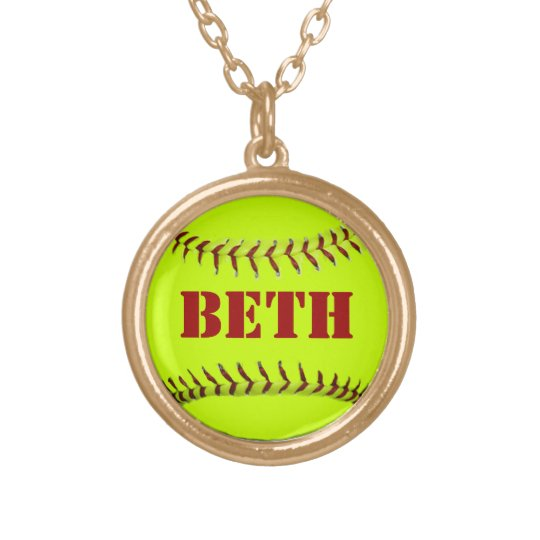 Personalised Softball Necklace