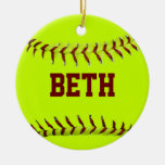 Personalised Softball Ornament