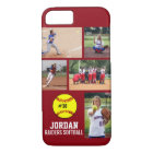 Personalised Softball Photo Collage Name Team iPhone 8/7 Case