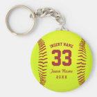Personalised Softball Team Key Ring