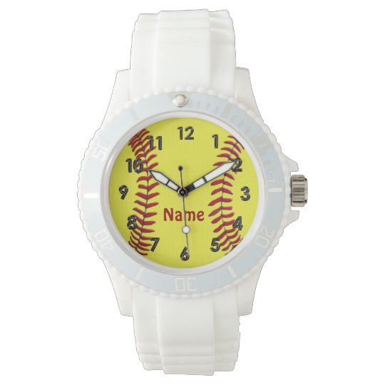 Personalised Softball Watches with YOUR NAME