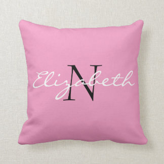 Personalised Solid Pink.Cartoon Cupcake Collection Cushion