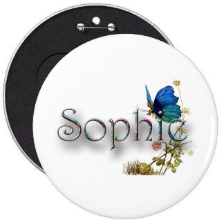 Personalised `Sophie' design 6 Cm Round Badge
