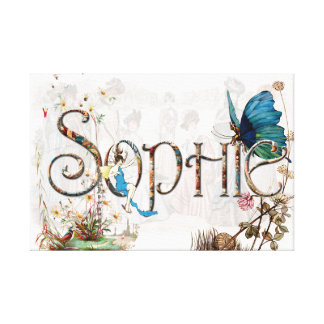 Personalised `Sophie' design Canvas Print