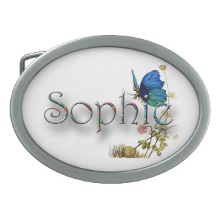 Personalised `Sophie' design Oval Belt Buckle