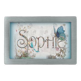 Personalised `Sophie' design Rectangular Belt Buckles
