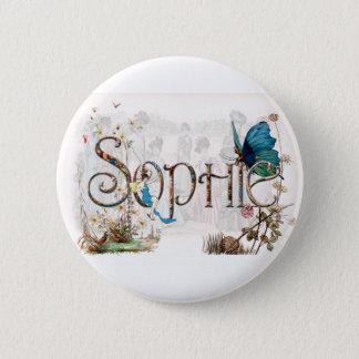 Personalised `Sophie' Fairy design 6 Cm Round Badge